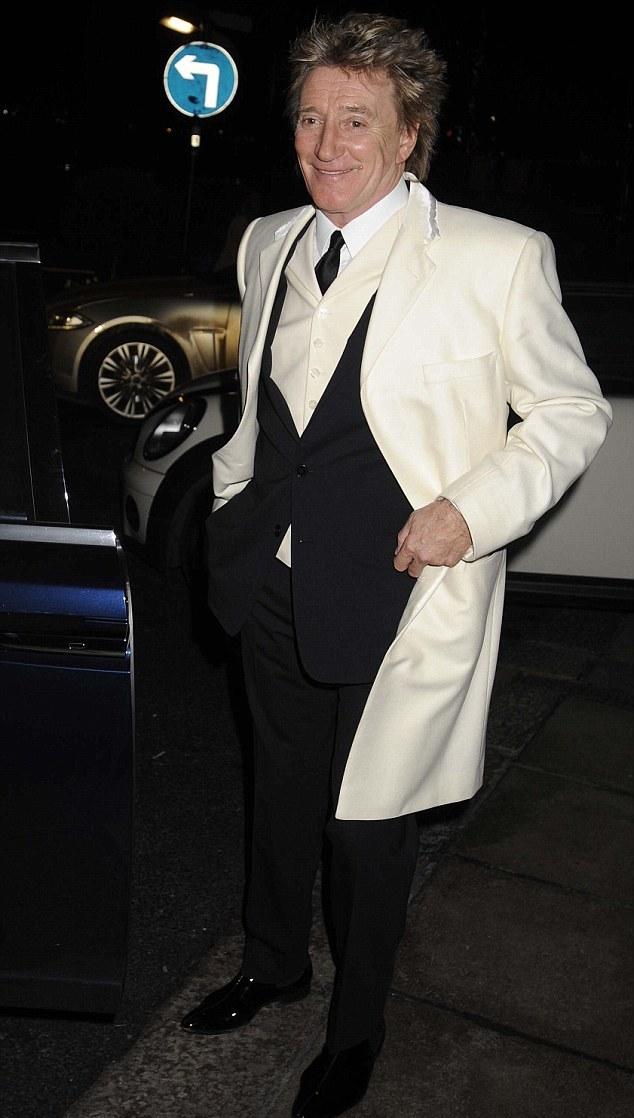 Rod Stewart served as best man