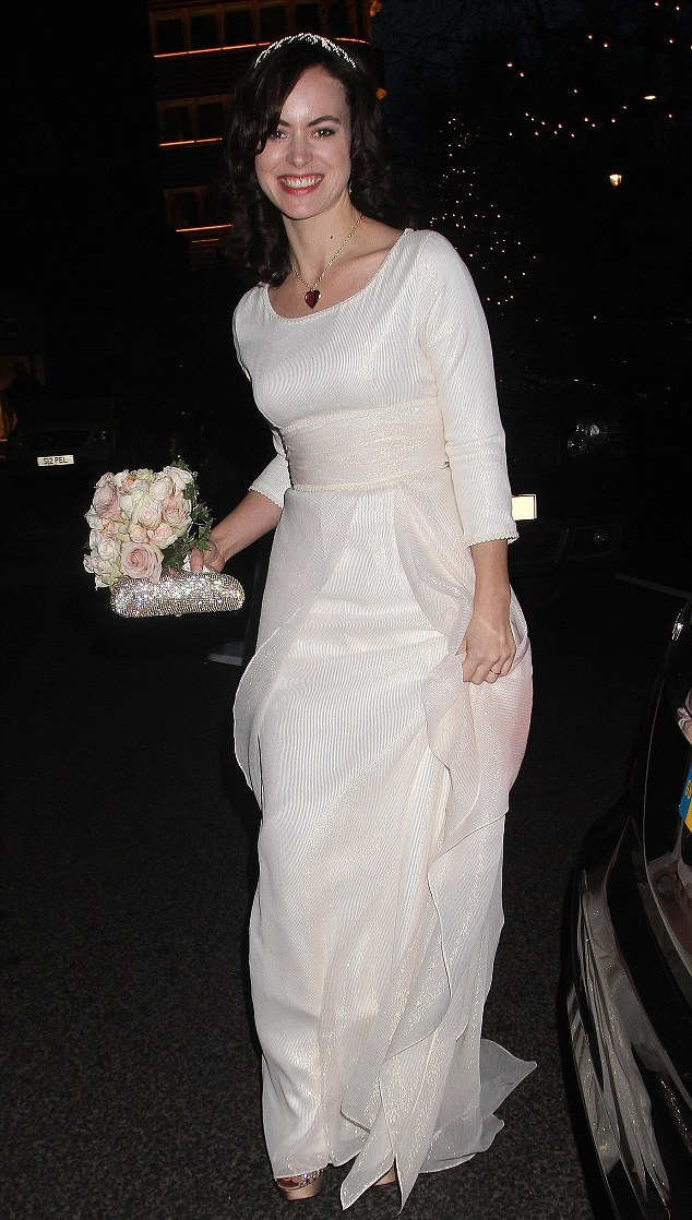 Sally Humphreys wore her mother's wedding dress