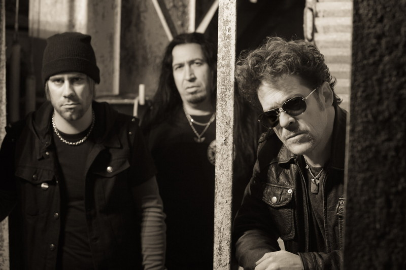 (L-R) Jessie Farnsworth, Jesus Mendez Jr. and Jason Newsted